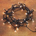 LED Twinkle Ricelight-Batterie-Lichterkette 48 Lichter, warmweiß, mit Timerfunktion