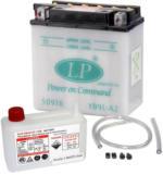 Landport YB9L-A2 Motorrad Batterie mit Säurepaket, 12V, 9Ah