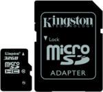 32 GB Kingston microSDHC Class10 inkl. SD Adapter