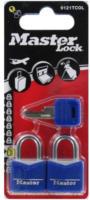 Masterlock Vorhängeschloß Kofferschloss 3mm Bügel 2er Pack, Blau