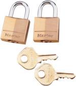 Masterlock Vorhängeschloß Kofferschloss 3mm Bügel 2er Pack, Gold