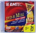 EMTEC DVD-R Mini Slim - 1.4 GB, 30 min - 3er Pack