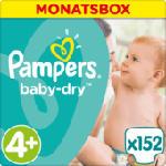 Windeln Baby-Dry Größe 4+ Maxi Plus, 9-18kg, MonatsBox