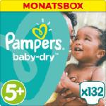 Windeln Baby-Dry Größe 5+ Junior Plus, 13-25kg, MonatsBox