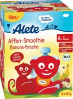 Quetschbeutel Affen-Smoothie Banane-Kirsche ab 6. Monat, 4x90g