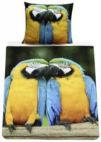 """Microfaser-Fotodruck-Bettwäsche """"Papagei"""""""