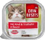 Nassfutter für Katzen mit Rind & Truthahn, in Sauce