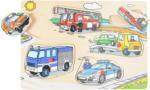 Steckholzpuzzle Fahrzeuge