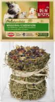 Genießervielfalt getreidefreier Snack für Nager & Zwergkaninchen, Knabber- Rolle mit Wildrosenblüten, Kräutern & Kornblumenblüten, 1 St