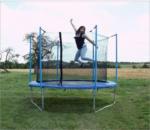 Riesen Trampolin Gartentrampolin Kindertrampolin XL 305 cm mit Netz