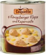 COQUETTE 4 Königsberger Klopse und Kapernsoße