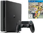 PS4 Konsolen - Sony PlayStation 4 Slim Konsole 1TB Schwarz + FIFA 17
