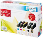 UNITED OFFICE® Tintenpatronen-Multipack C550 XL / C551 XL