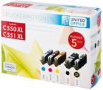 UNITED OFFICE® Tintenpatronen-Multipack C550 XL / C551 XL