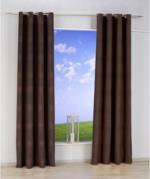 Vorhang Ripped, mit Ösen, aus Baumwolle, ca. 140 x 240 cm, braun