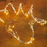 Kölle LED Regen 180 Lichter, Silberdraht, warmweiß