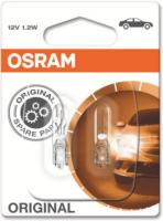 OSRAM ORIGINAL W1.2W Glühlampe 2721, in Weiß, Standard, 2 Stück