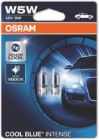OSRAM COOL BLUE INTENSE W5W Glühlampe 2825HCBI für PKW und Motorräder, klar, 2 Stück