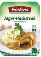 Frischeria Fertiggericht Jäger-Hacksteak
