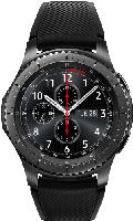 Smartwatches - Samsung Gear S3 Frontier Smartwatch Silikon, 22 mm, Korpus: Space Gray, Silikon-Armband: Blue Black
