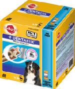 Snack für Hunde, Zahnpflege DentaStix für große Hunde, Multipack 8x7 Stück