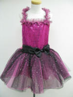 Besttoy - Kinder Kostüm Partykleid, pink mit schwarzer Schleife 3-5 Jahre