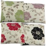 Chenille-Dekokissen »Luciana« beige-rot floral