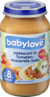 Menü Makkaroni in Tomaten-Mozzarella-Soße ab 8. Monat