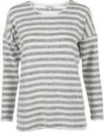Damen Ringel-Flauschshirt