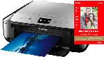 Multifunktionsdrucker - Canon MG 6852 + PP-201 A4 Fotopapier (20 Blatt) Tintenstrahl 3-in-1 Tinten-Multifunktionsgerät WLAN