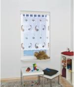 """Vorhang """"Mond und Schaf"""" mit Schlaufen, ca. 140 x 120 cm, weiß"""