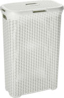 Curver Rattan-Wäschebox Style, creme, 40 L