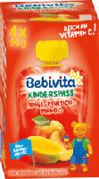 Quetschbeutel Kinderspass Apfel-Pfirsich-Mango ab 1 Jahr, 4x90g