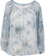 Damen Blouson Bluse mit Strasssteinchen