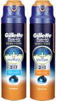 Gillette Fusion Proglide Sensitive Rasiergel, jede 170-g-Dose