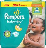 Windeln Baby Dry, Größe 5+ Junior plus, 13-25 kg, Sparpack