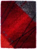 ROLLER Teppich Billings - rot - Streifen - Hochflor - 140x200 cm