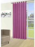 Vorhang Silk, mit Schlaufen, ca. 140 x 225 cm, magenta