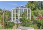 Gartenhaus Victoria 1400, weiß, PC klar