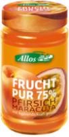 Allos Frucht Pur Pfirsich-Maracuja 250g Glas