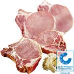 Frische Schweinestielkotelett oder Kasseler Kotelett, in Scheiben geschnitten, je 1 kg