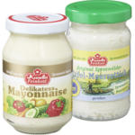 Kunella Delikatess-Mayonnaise, Remoulade, Joghurt-Salatcreme, 250 g oder Meerrettich, 100 g, jedes Glas