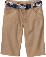 Jungen-Shorts mit Gürtel