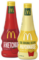 Mc Donald's Tomatenketchup 750 ml oder Mayonnaise 500 ml jede Flasche