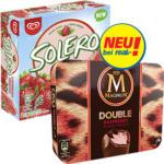 Langnese Magnum Double Himbeere 4er oder Solero Strawberry 6er * * * jede 352/330-ml-Multipackung und weitere Sorten