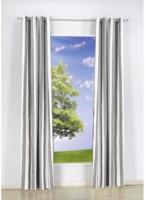Vorhang Streifen, mit Ösen, aus Baumwolle, ca. 140 x 240 cm, grau