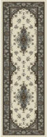Teppich Isfahan ca. 80 x 250 cm grau