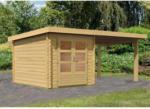 Karibu Gartenhaus Bastrup mit Schleppdach 300 cm, naturbelassen