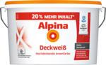 Alpina Wand- und Deckenfarbe Deckweiß, matt, 12 L