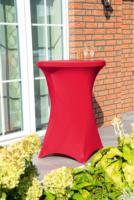 GO-DE Stehtisch-Spannhusse, 120x70-80 cm, rot